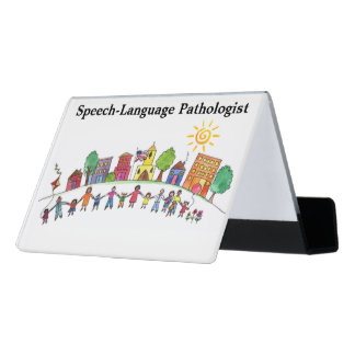 School Speech Pathologist's Business Card Holder Desk Business Card Holder
