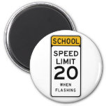 School Speed Limit 20 Street Sign Fridge Magnets