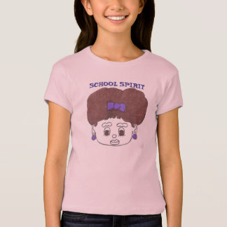 """SCHOOL SPIRIT"" TEE WITH CUTE FACE DESIGN"