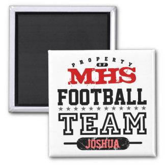 School Sport Team 2 Inch Square Magnet