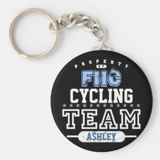 School Sport Team Basic Round Button Keychain