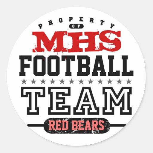 School Sport Team Classic Round Sticker