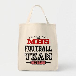School Sport Team Grocery Tote Bag