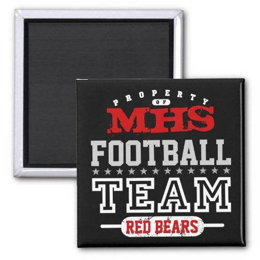 School Sport Team Refrigerator Magnet