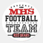 School Sport Team Round Sticker