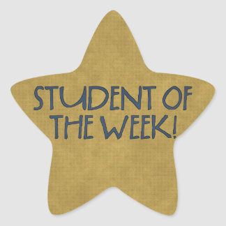 School Star Student of the week Stickers