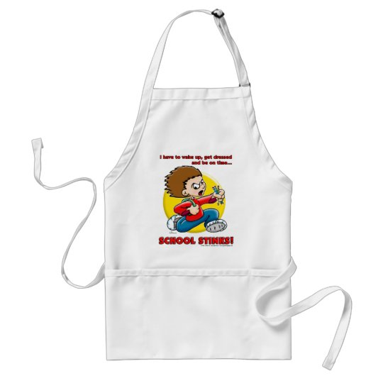 School Stinks Adult Apron