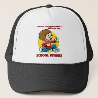 School Stinks Trucker Hat