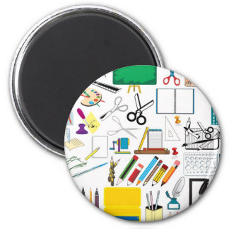 School subjects3 2 inch round magnet