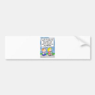 school substitute teachers students bumper sticker
