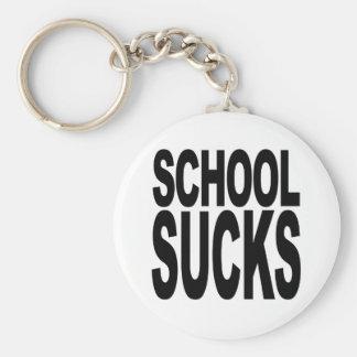 School Sucks Basic Round Button Keychain
