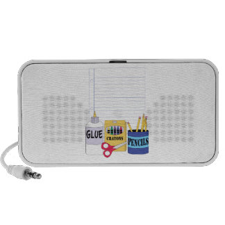 School Supplies Base iPod Speakers