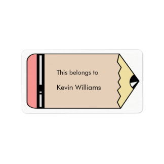 School Supplies Labels Personalized Address Label