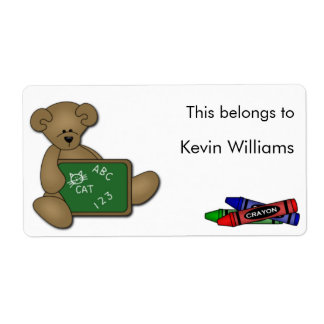 School Supplies Labels Shipping Labels
