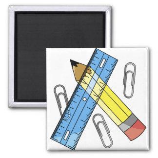 School Supplies Fridge Magnets