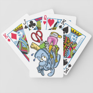 School Supplies Playing Cards