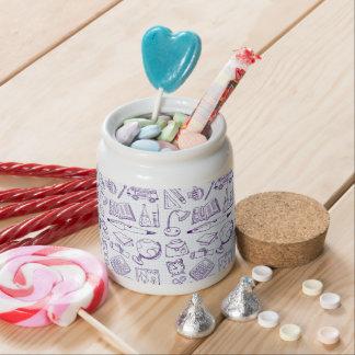 School Supplies Sketch Candy Dish