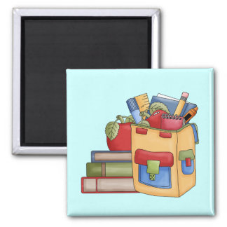 School Supplies Tshirts and Gifts 2 Inch Square Magnet