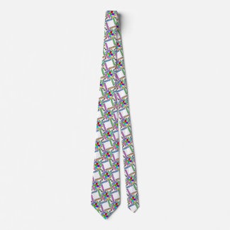 School supply art pattern personalizable neck tie
