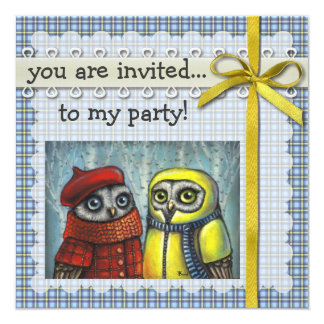 School Sweethearts 5.25x5.25 Square Paper Invitation Card