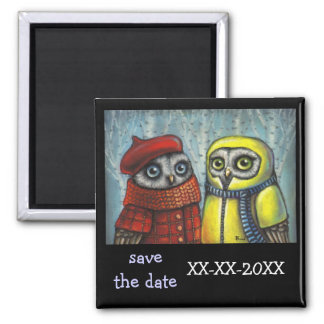 School Sweethearts 2 Inch Square Magnet
