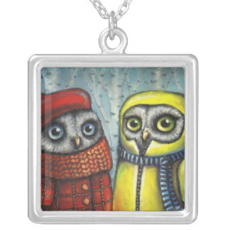School Sweethearts Square Pendant Necklace