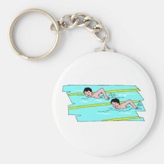 School Swim Competition Keychain