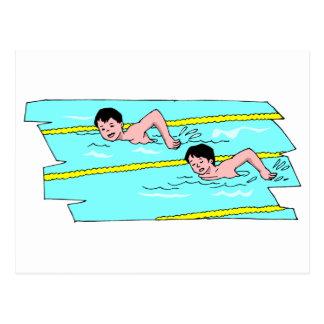 School Swim Competition Post Cards