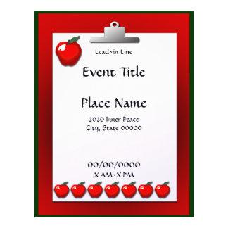 School Teacher Apple Clipboard Event Flyer
