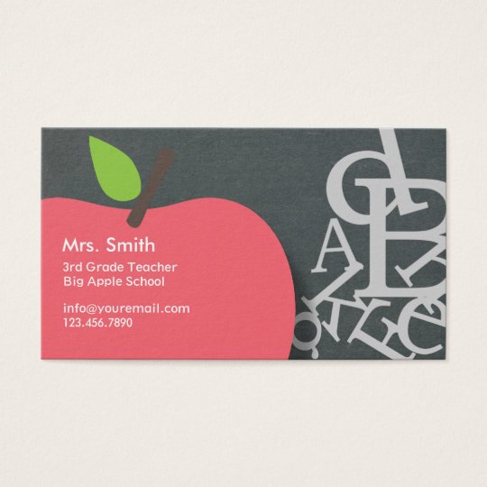 School Teacher Business Cards Templates Zazzle - Teacher business card template