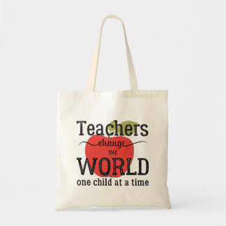 Tote Bags - School teacher apple quote typography tote bag
