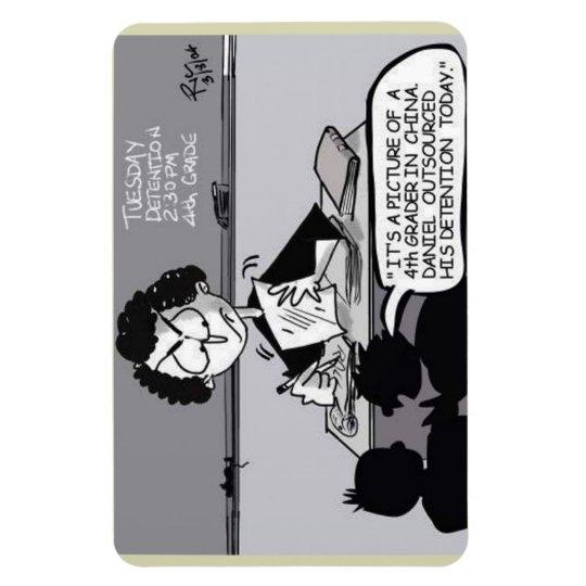 School Teacher Cartoon magnet