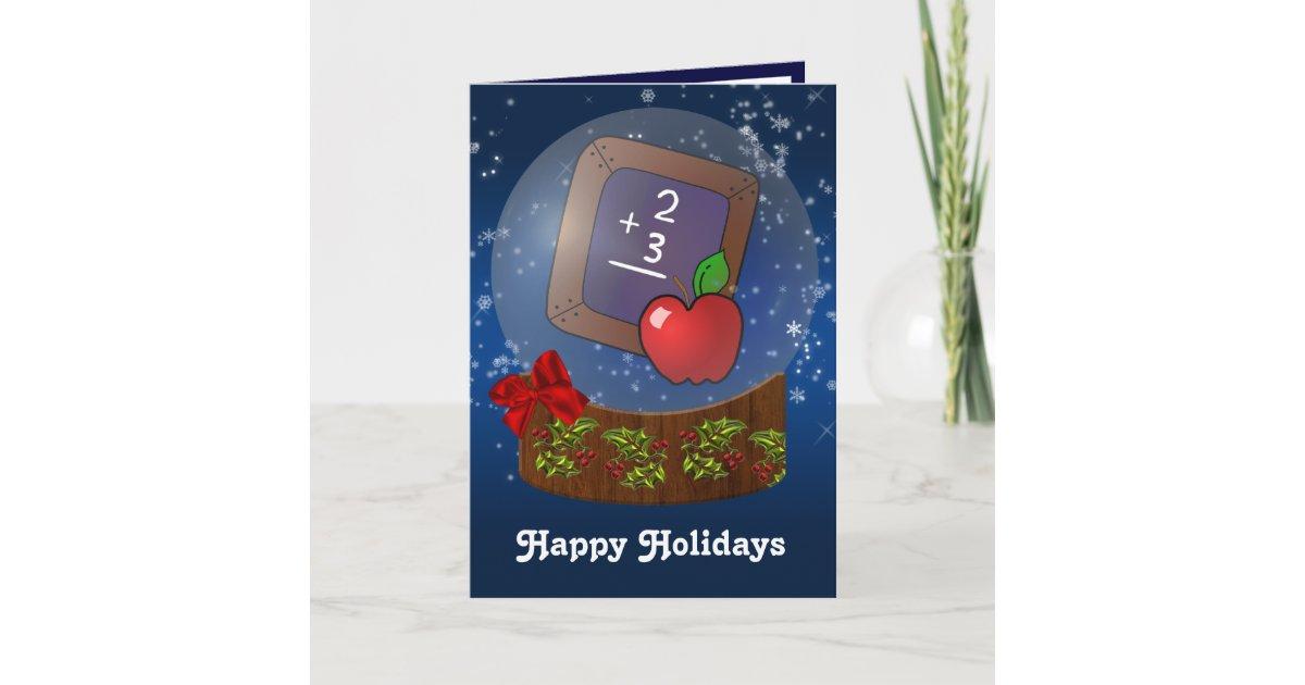 school teacher Christmas Cards | Zazzle.com