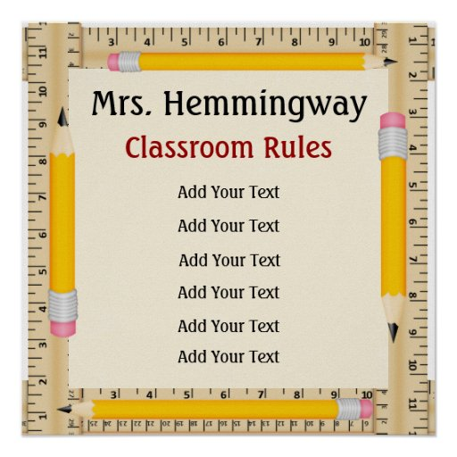School Teacher Classroom Rules / Goals - SRF Posters