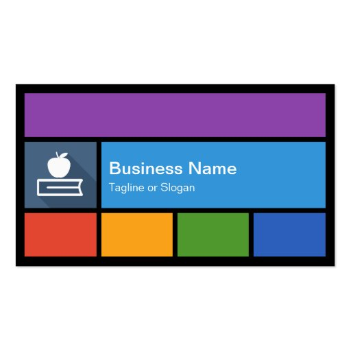 Substitute Teacher Business Card Templates BizCardStudio - Substitute teacher business card template