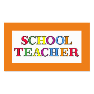 School Teacher Colors Double-Sided Standard Business Cards (Pack Of 100)