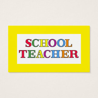 School Teacher Colors Business Card