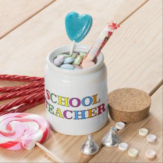 School Teacher Colors Candy Jar