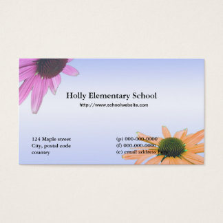 School teacher daisy flowers business card