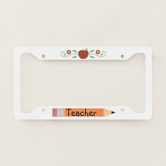 School Teacher License Plate Frame | Zazzle.com