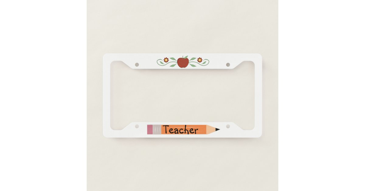 School Teacher License Plate Frame | Zazzle.com