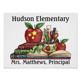School - Teacher Principal Poster