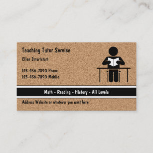 After school tutor business cards templates zazzle school teacher tutoring business cards colourmoves