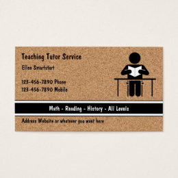 After school business cards templates zazzle school teacher tutoring business cards reheart Gallery