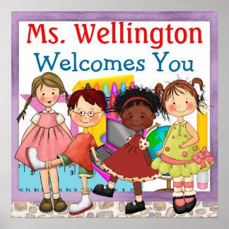 School Teacher Welcome Sign - SRF