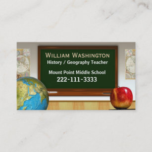 School teachers chalk board business card school teachers chalk board business card reheart Image collections
