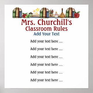 School Teacher's Classroom Rules #3  by SRF Print