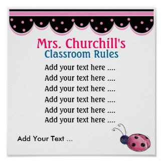 School Teacher's Classroom Rules . by SRF print