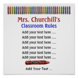School Teacher's Classroom Rules . by SRF Poster
