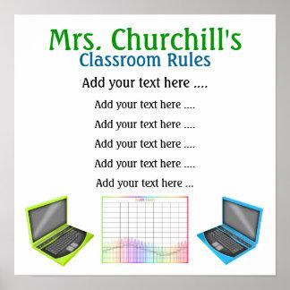 School Teacher's Classroom Rules by SRF Poster